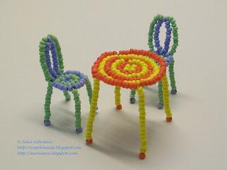 Стол из бисера