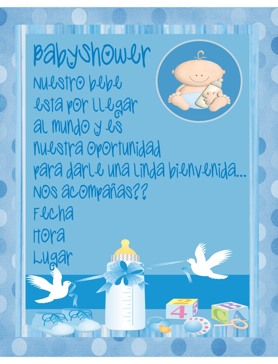 Invitacion BabyShower