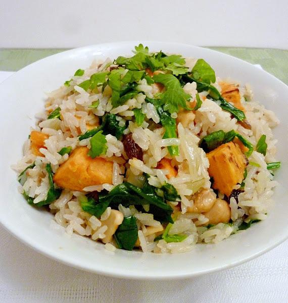 Vanilla & Spice: Sweet Potato Coconut Cashew Rice