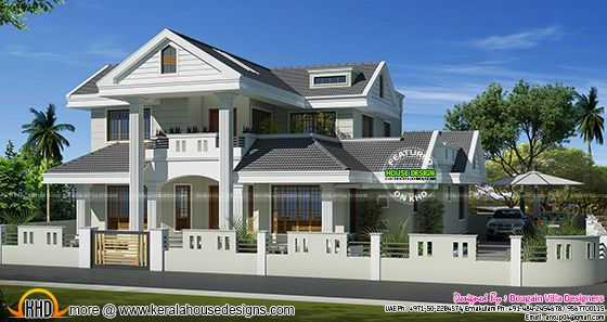 Classic style Kerala model house