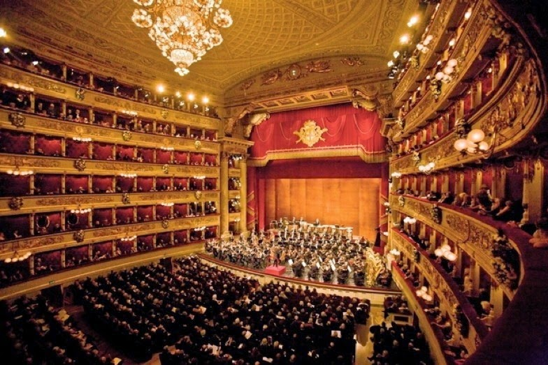 La Scala operahuset i Milano, Italien