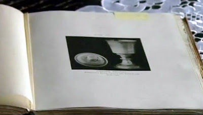 Old book showing 16th centiry chalice