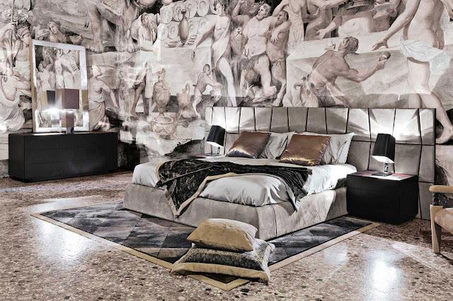 dormitorios alucinantes futuristas con papel mural en