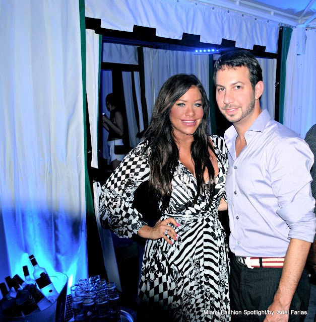 Diana Laura with Jared Shapiro at Ocean Drive Magazine Event