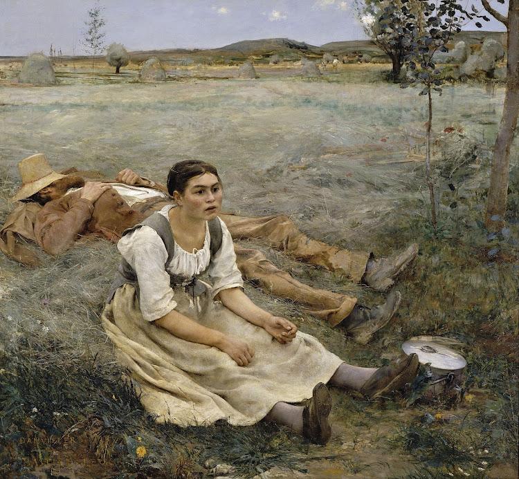 Jules Bastien-Lepage - Hay making 1877