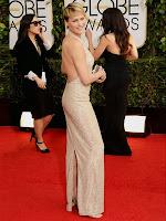 Робин Райт в дълга права рокля с гол гръб на Reem Acra - Златен глобус 2014