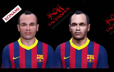PES 2014 Andrés INIESTA Face by K0H