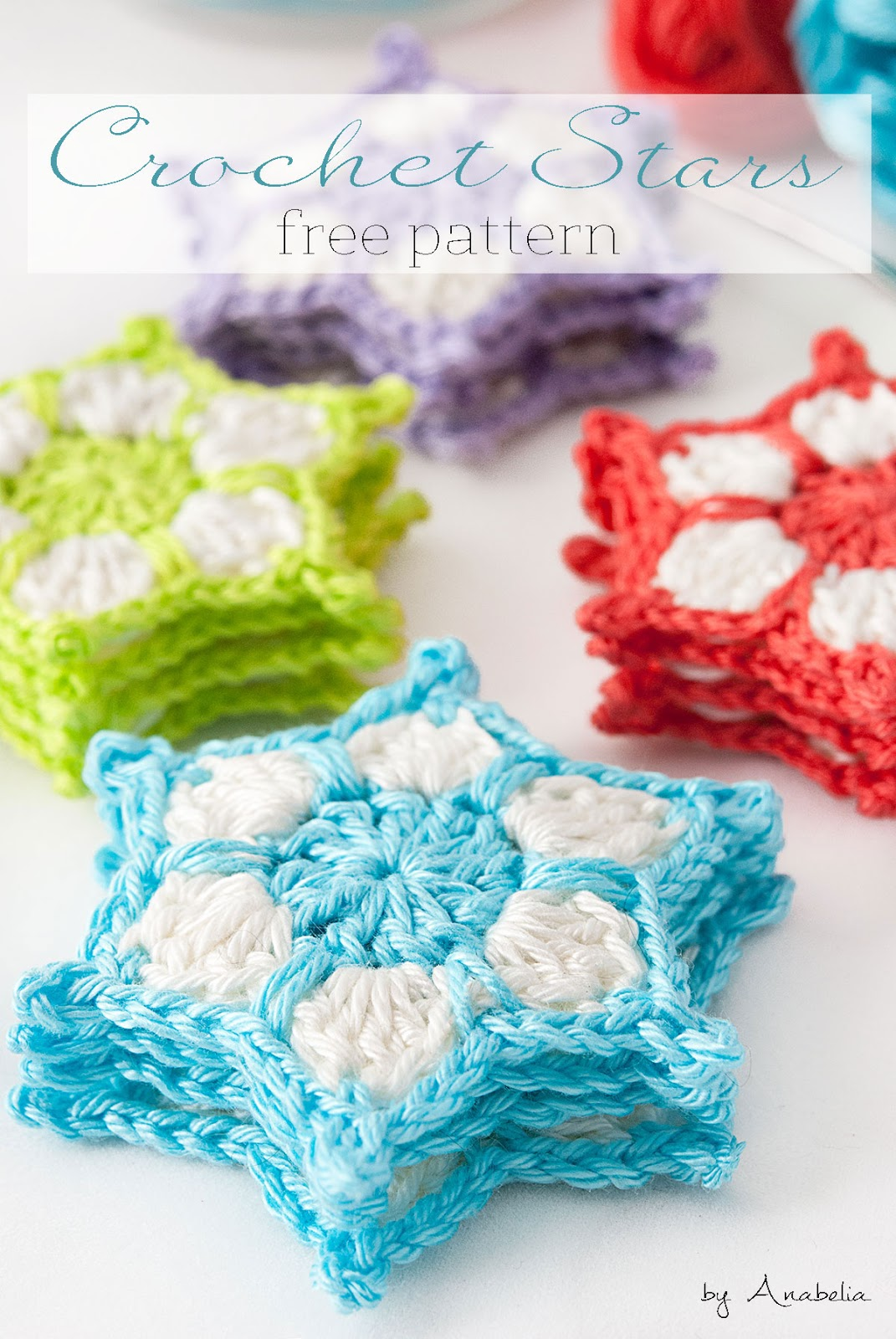 Free Crochet Pattern For Star Garland : Anabelia craft design: DIY: How to make a crochet stars ...