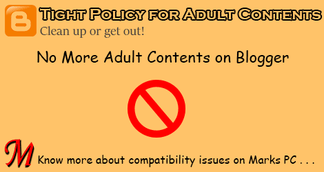 Adult Content Policy Changed for Blogger