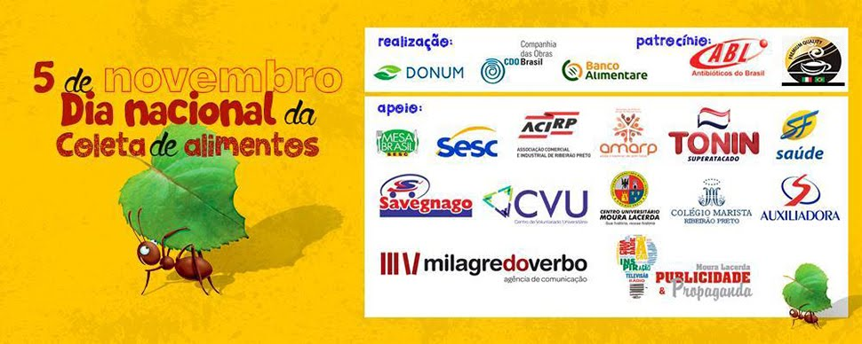 Amigos do Dia Nacional da Coleta de Alimentos - Ribeirão Preto/SP