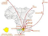 Air Zimbabwe's 2006 Network