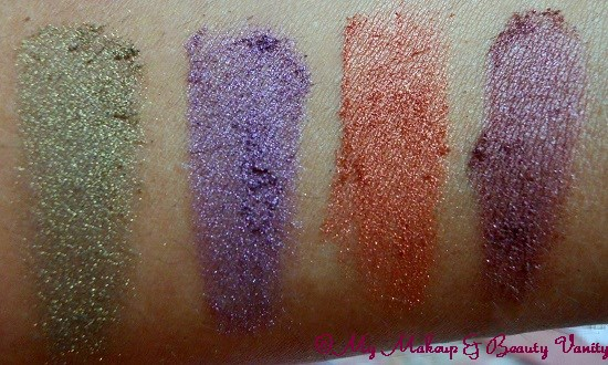 Lotus PURESTAY Long Lasting Eyeshadow in Electric Glaze+Lotus PURESTAY Long Lasting Eyeshadow swatches