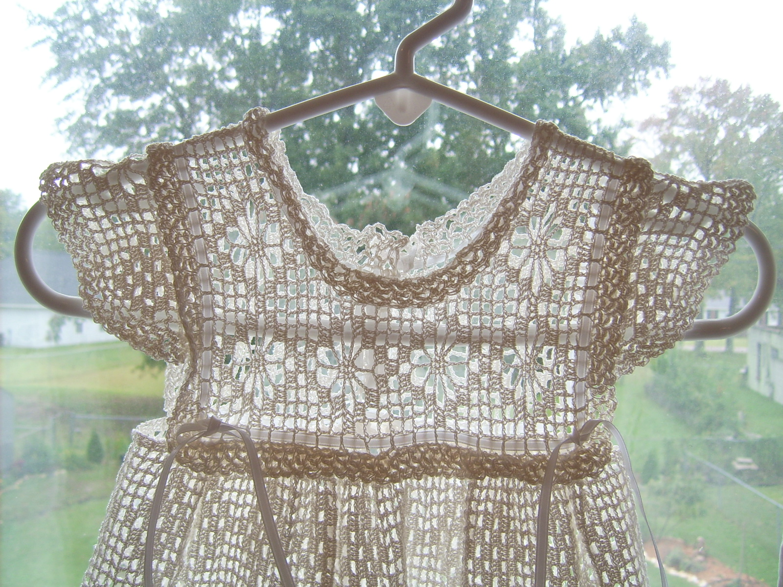 antiquebeginnings: Hand Crochet Antique Baby Dress reproduction