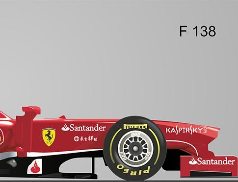"""Fórmula 1  Ferrari """"F138"""" - vector 2"""