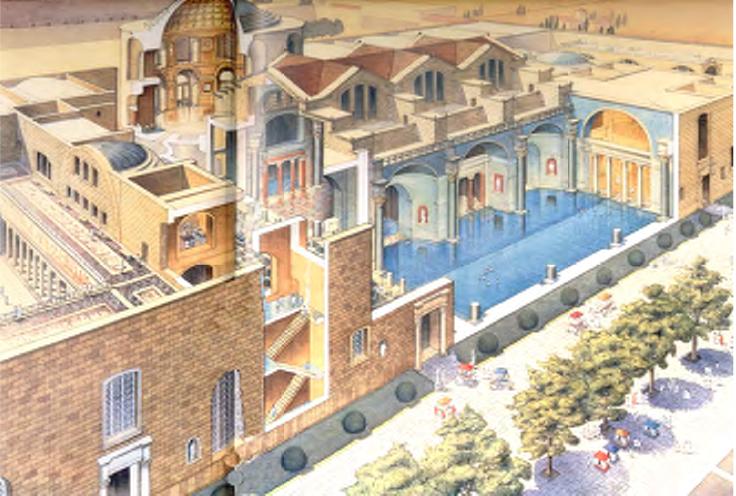 Baths Of Caracalla Reconstruction