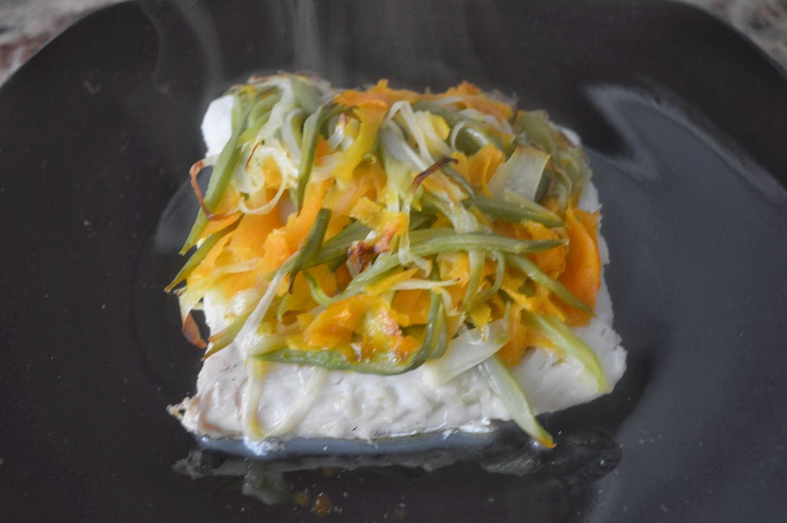 Bonito cocinar en papillote im genes cocinar en - Merluza a la papillote ...