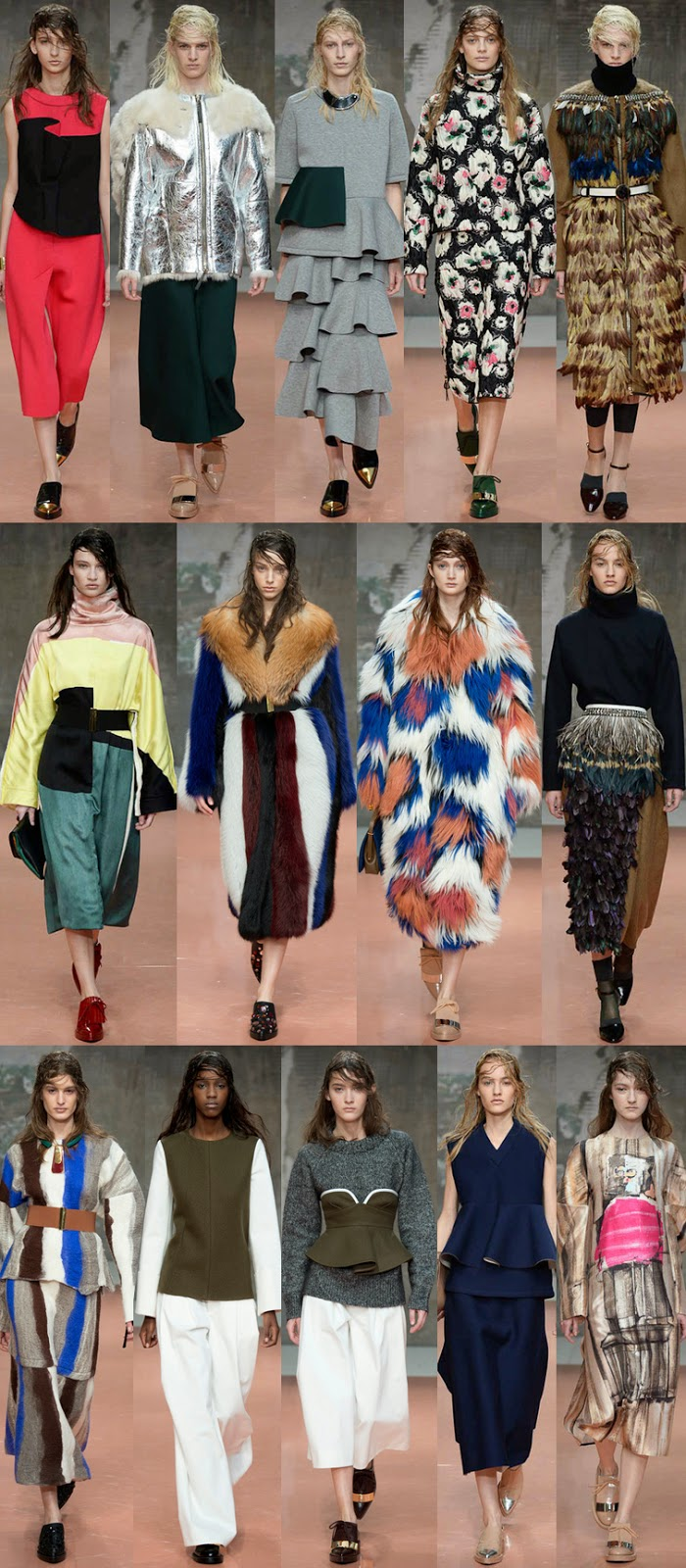Marni fall winter 2014 runway collection, FW14, AW14, MFW, Milan fashion week