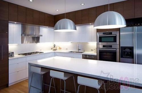on Gorgeous Wide Small White Kitchen Design With White Appliances