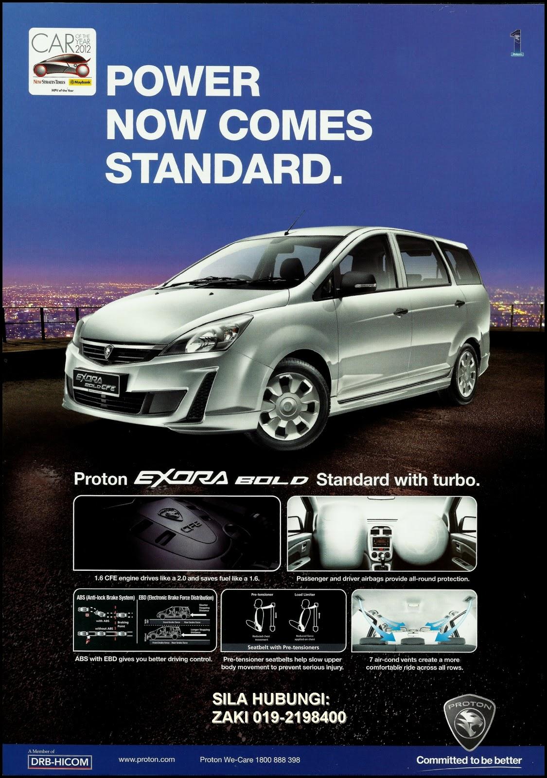 Proton Exora Bold 1.6 CFE Turbo (Auto) Standard