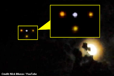 UFOs Captured On Cell Phone Cam By Former Megadeth Drummer Nick Menza 7-14-14