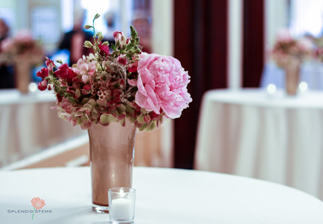 Saratoga Springs Wedding Flowers - Canfield Casino - Cocktail Hour - Splendid Stems Floral Designs