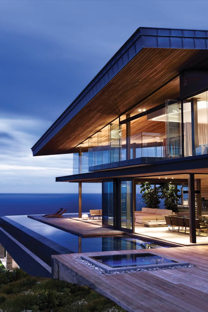 Facade and terrace of Cove 3, modern dream home by SAOTA