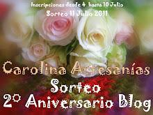 SORTEO ANIVERSARIO DE CAROLINA ARTESANIAS