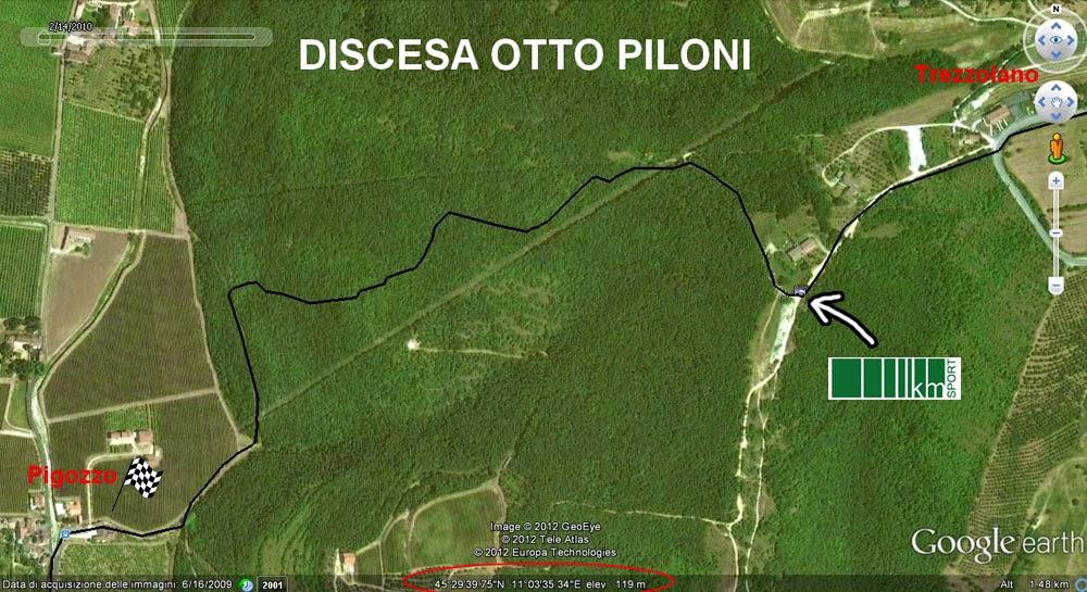 DISCESA 8 PILONI SU LESSINTRACKS