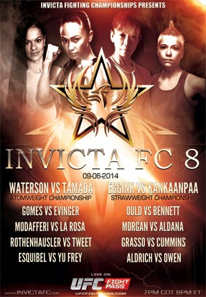 Invicta FC 8 Fight Card and Promo Video