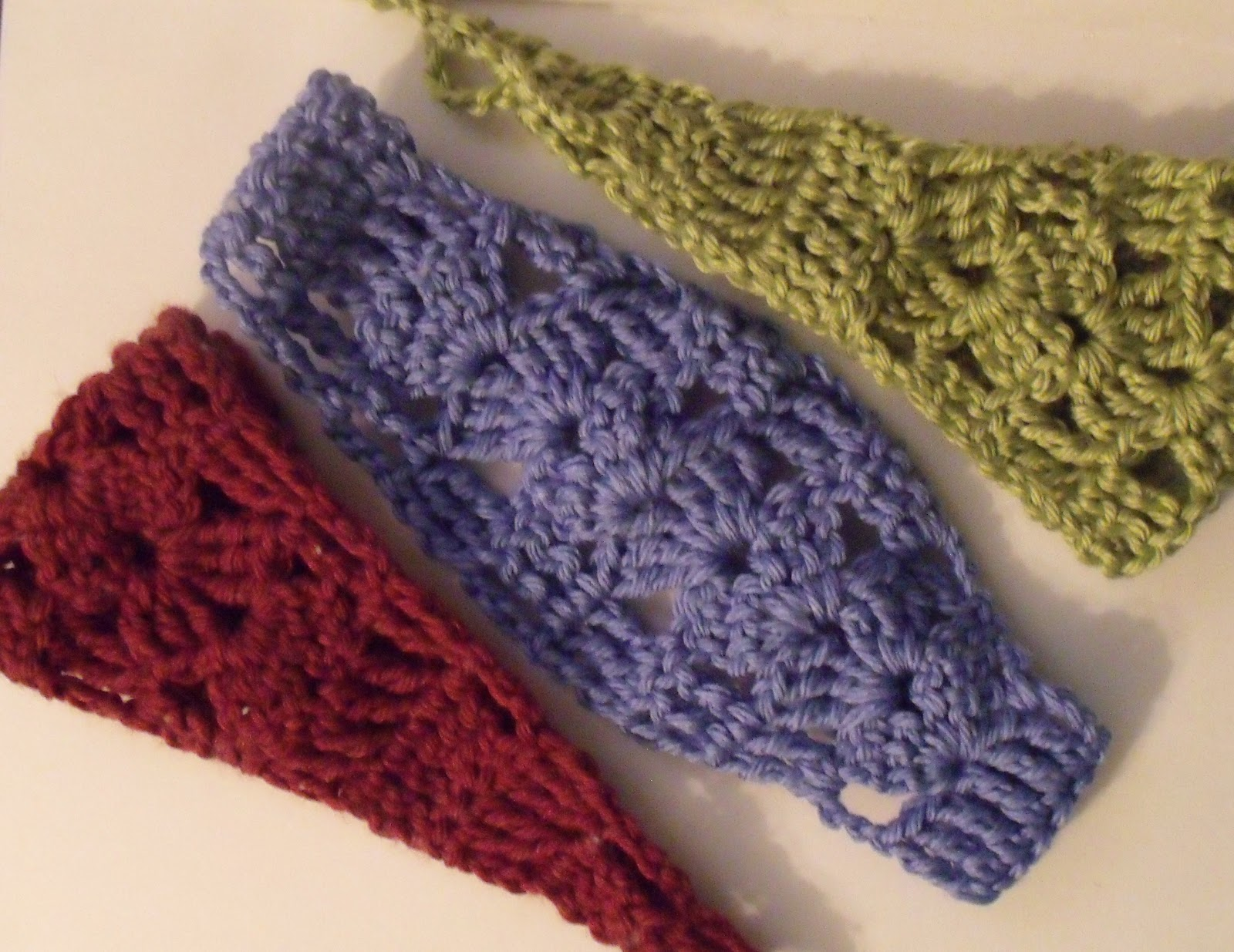 Crocheting A Headband : Andromedas Fibers Studios: Easy Shell Headband Pattern