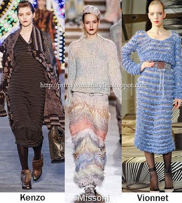 Дълги плетени рокли есен/зима 2011/12