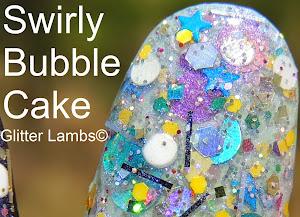 Swirly Bubble Cake Glitter Nail Polish