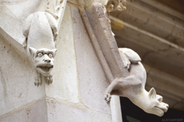 aliciasivert, alicia sivertsson, rouen, france, house, wall, gargoyle, animal, monster, fasade, frankrike, hus, fasad