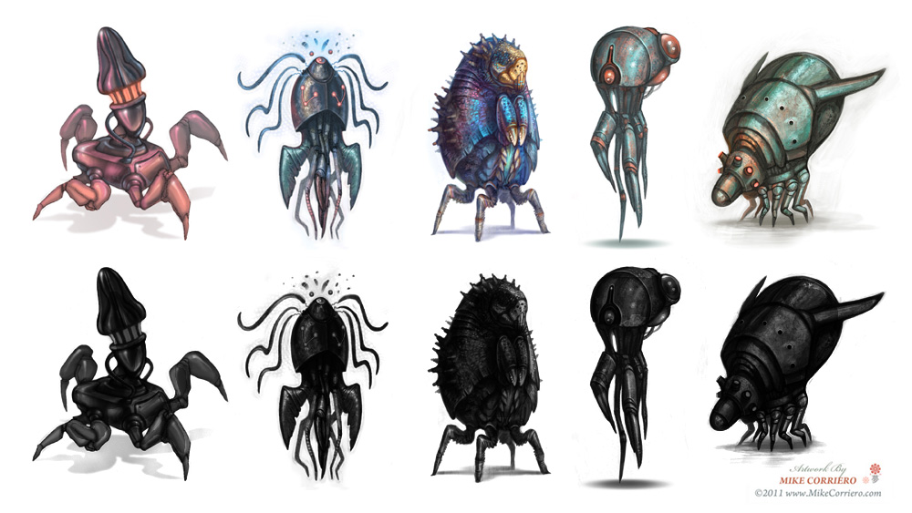Character Conceptual Design : Character and creature design notes the use of