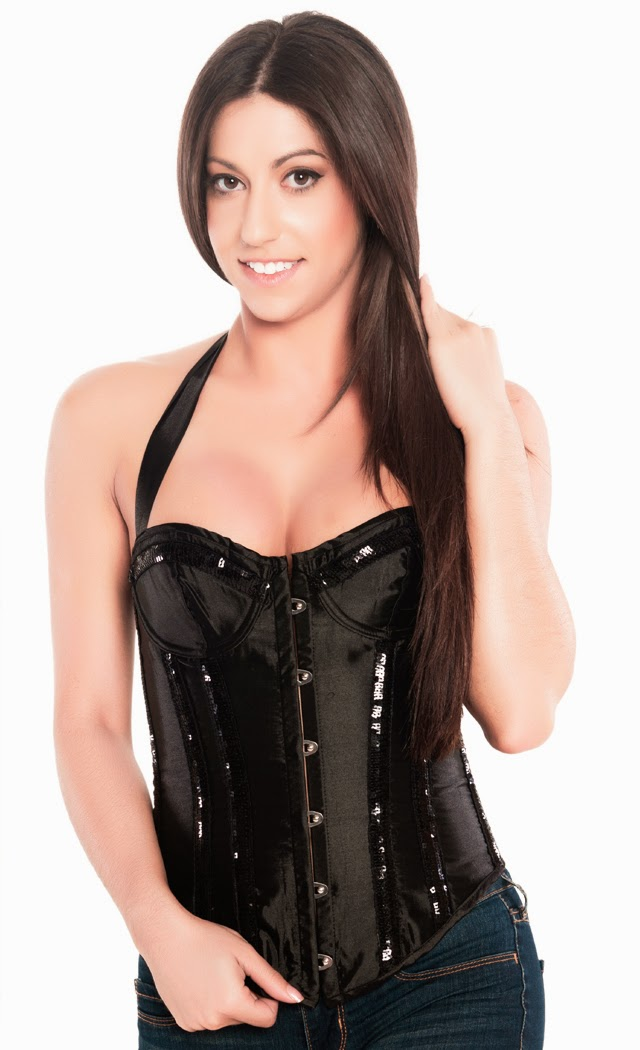 BlackSequinCorset