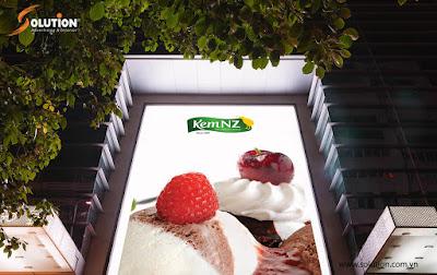 Mẫu thiết kế biển quảng cáo độc đáo Cửa hàng kem NewZealand