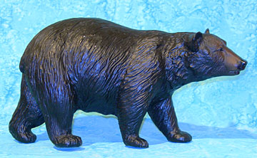 a pretty darn nice dark faced variation of the breyer black bear when i picked her up it appeared that she had some white housepaint speckled on her - Black Bear Christmas Decor