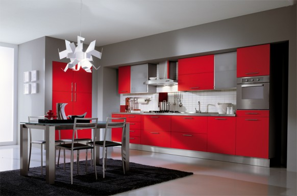 Charmant Red Kitchen, Rustic Kitchen, Small Kitchen, Retro Kitchen, The Kitchen, Red