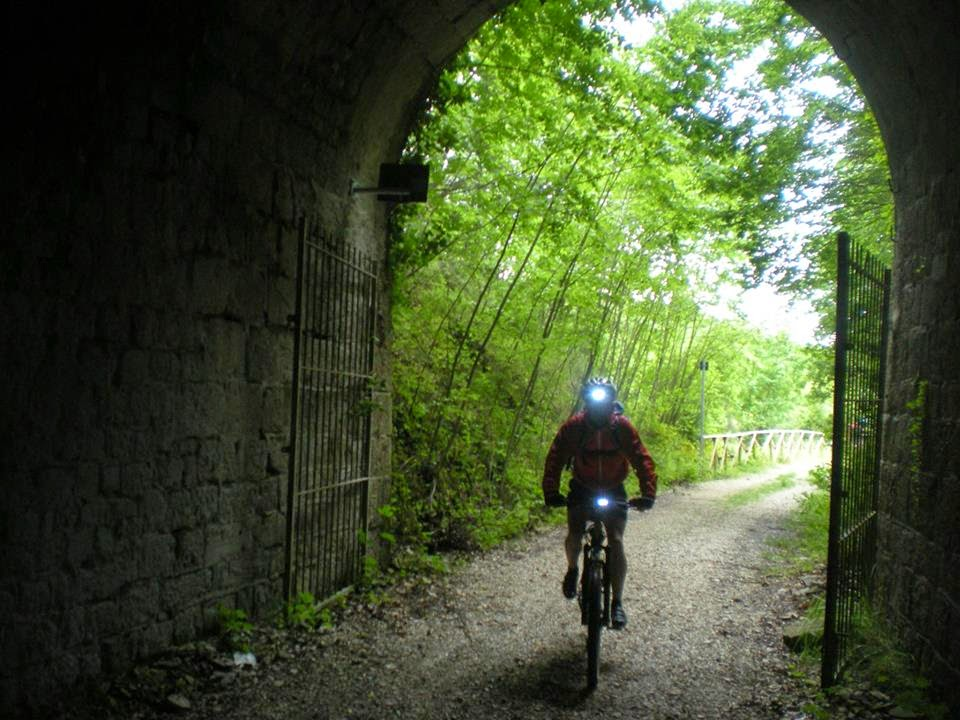 Cycling or walking along the old railway Spoleto-Norcia path