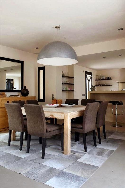 villa en Ibiza lampara pantalla de zinc