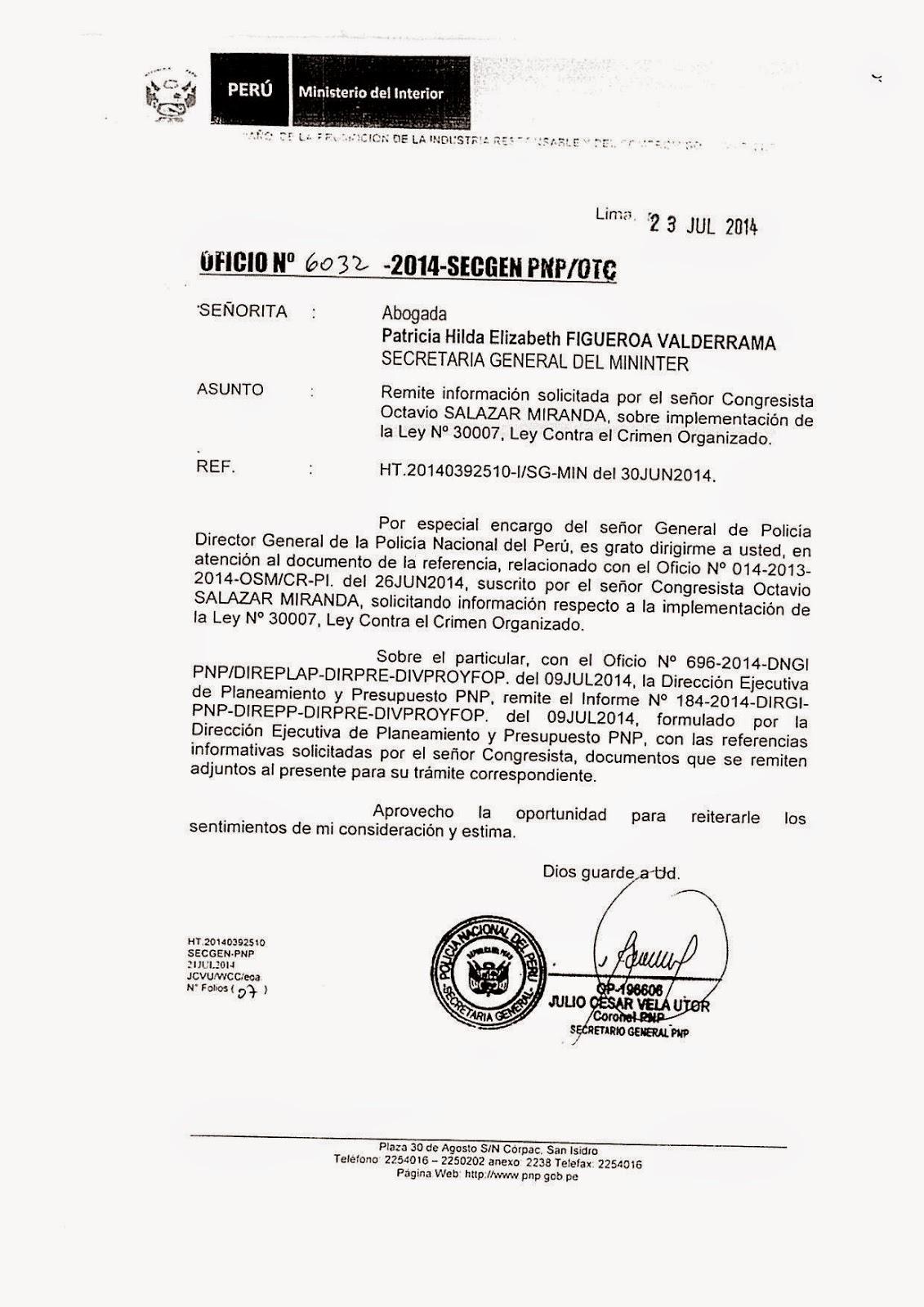 Ciudad segura for Ministerio del interior peru