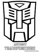 Mewarnai Logo Autobot Transformer