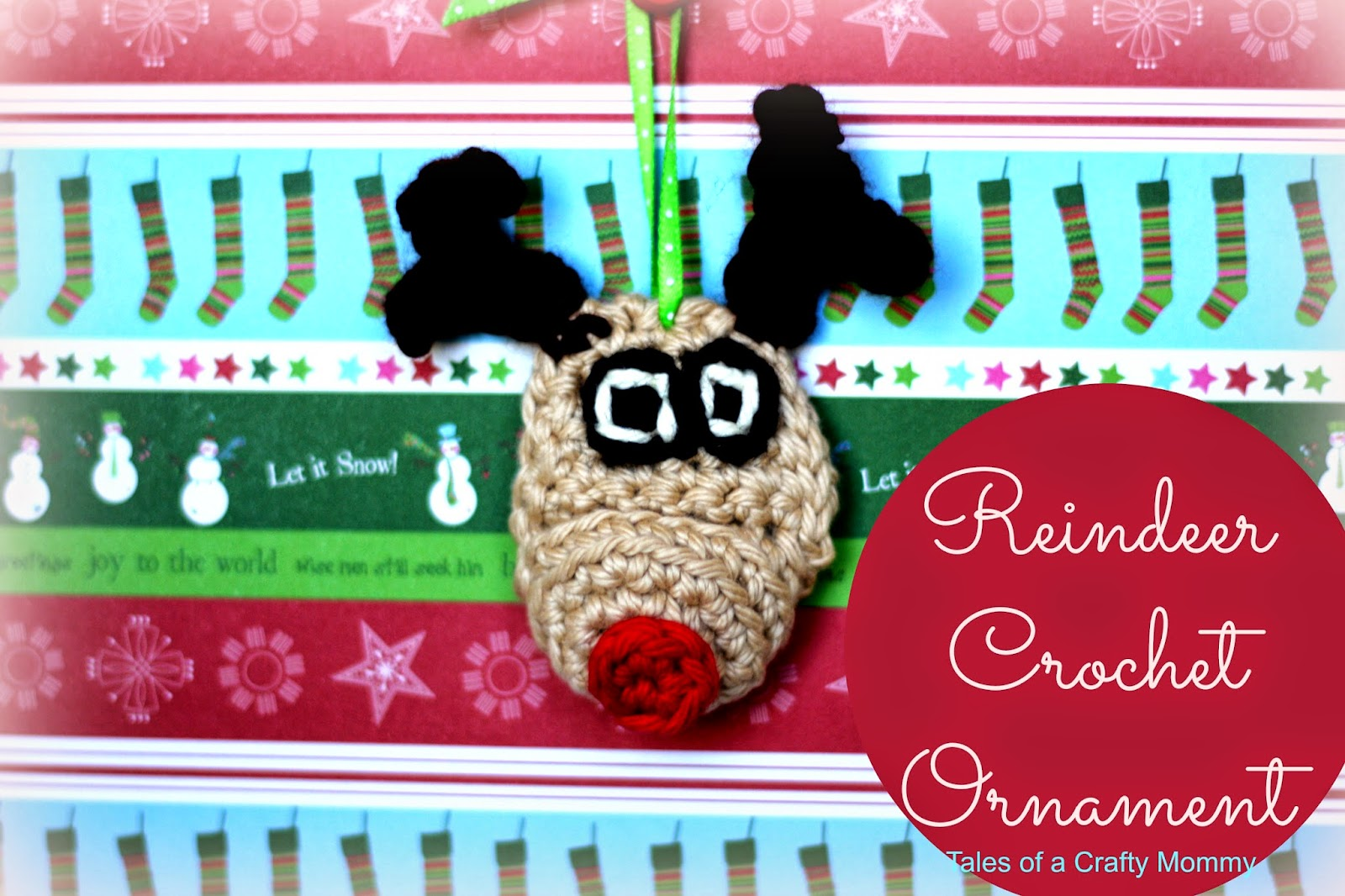 Reindeer Crochet Ornament