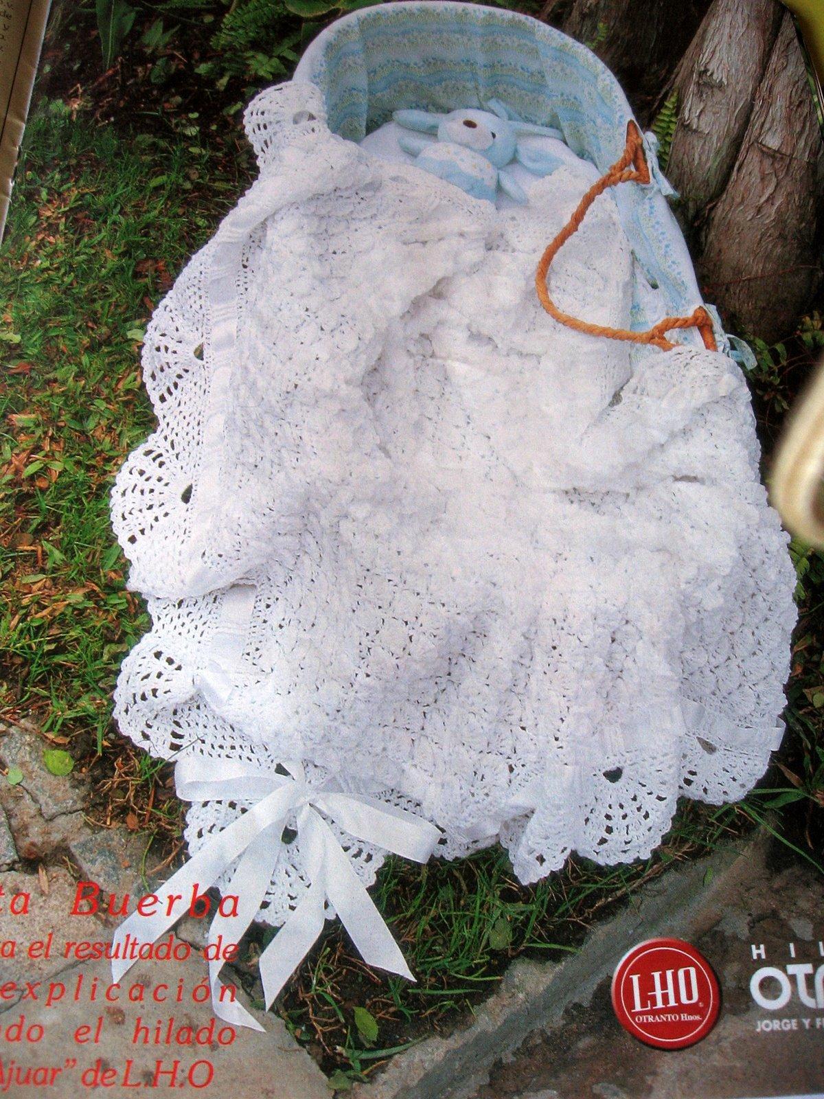 El Tallercito de Nany: Mantilla de bebe Manta espuma de mar
