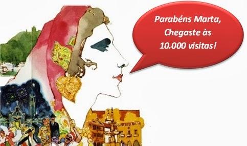 O Blog Marta Prozil está feliz! + de 10 mil visualizações!