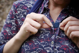 Imogen Jersey Shirt - velcro front fastening