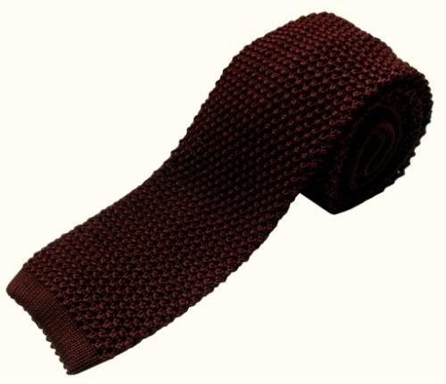 Nick Bronson Plain Knitted Tie