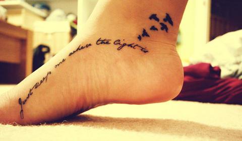Tatto Schrift on Kates Fashionblog  Mein 2  Tattoo