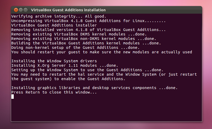 Virtualbox guest additions ubuntu