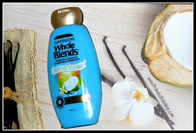 Garnier's Whole Blends Haircare Coconut Water & Vanilla Milk Hydrating Shampoo